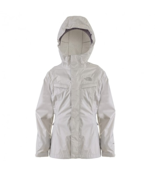 The North Face Girls' Clairy Rain Jacket Moonlight Ivory L