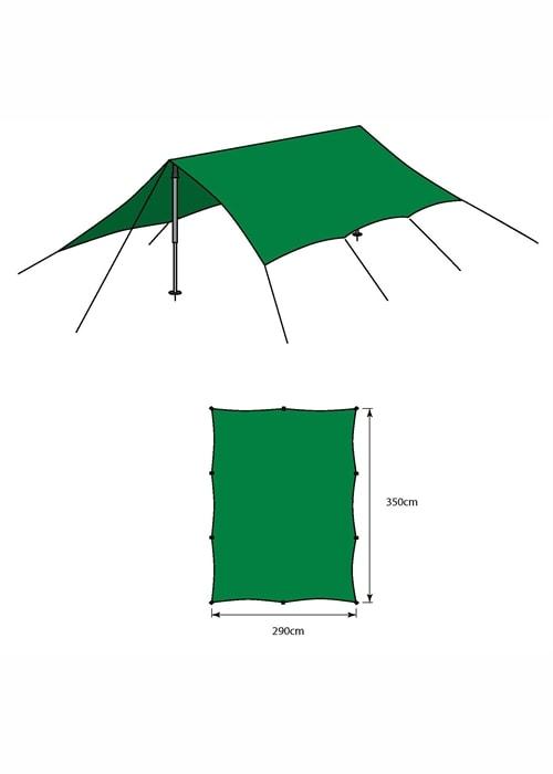 Bergans Tarp Medium - Green