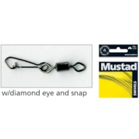 Mustad Black Rolling Swivel w/ Diamond Eye