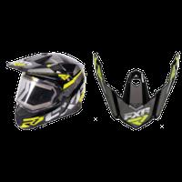 FXR FX-1 Team Helmet Visors - Black/Hi-Vis/Charcoal