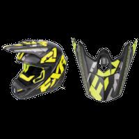 FXR Torque Core Helmet Visors - Black/Hi-Vis/Charcoal