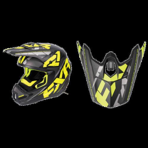 FXR Torque Core Helmet Visors - Black/Hi-Vis/Charcoal - OS