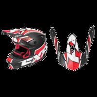 FXR Blade Clutch Helmet Visors - Black/Red/White