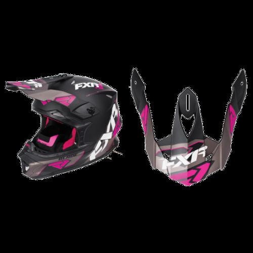 FXR Blade Throttle Helmet Visors - Black/Fuchsia/Charcoal - OS