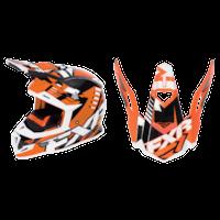 FXR Boost Revo Helmet Visors - Orange/Black/White
