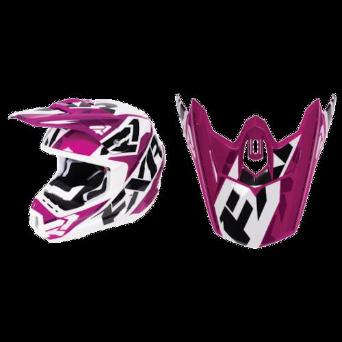 FXR Torque Squadron Helmet Visors - Wineberry/White - OS