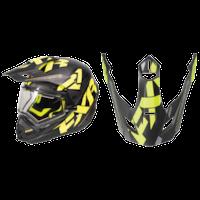 FXR Torque X Core Helmet Visors - Black/Hi-Vis/Charcoal