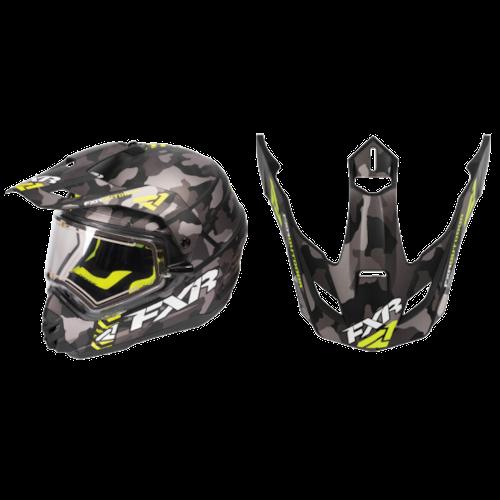FXR Torque X Squadron Helmet Visors - Grey Urban Camo/Hi-Vis - OS