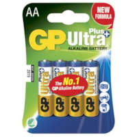 GP Ultra Plus Alkaline AA-batteri - 15AUP/LR6 - 4-pakk
