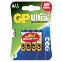 GP Ultra Plus Alkaline AAA-batteri - 24AUP/LR03 - 4-pakk