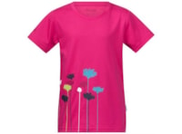 Bergans Flower Kids Tee - Hot Pink/Cerise