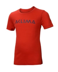 Aclima LightWool T-Shirt Logo Junior - High Risk Red