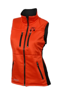 Lars Monsen Anárjohka Vest Woman Jet Black/Poinciana/River Bl (Aclima for Lars Monsen)