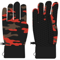 Lars Monsen Camo Gloves - Orange