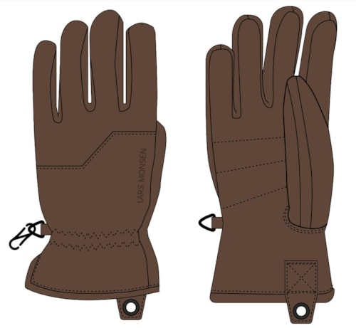 Lars Monsen Alta Leather Gloves - S