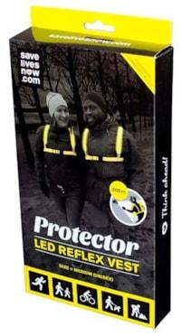 Protector LED Refleksvest - Large Yellow