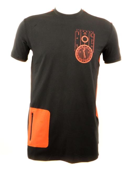 Lars Monsen T-Shirt ALT ER MULIG -  Black/Orange - S