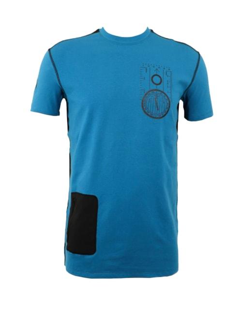 Lars Monsen T-Shirt ALT ER MULIG -  Blue/Black - S