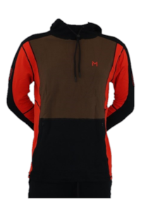 Lars Monsen Alta Bamboo Hoodie Men - Black/Brown/Orange