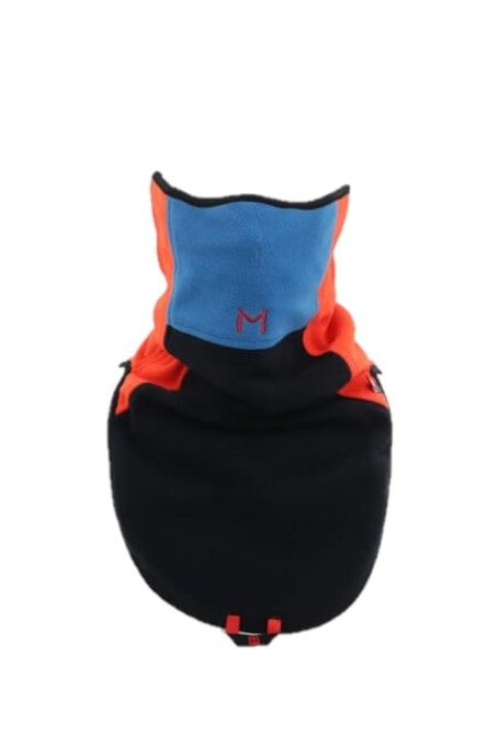 Lars Monsen Alta Warm Fleece Neck - Black/orange/Blue