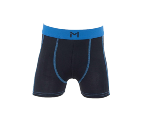 Lars Monsen Alta Bamboo Boxer Kids - Black/Blue - 98-104