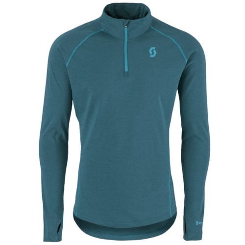 Scott Base DRI 1/4 Zip Trøye Blå - M