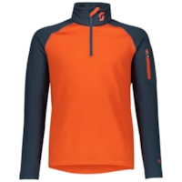 Scott 1/2 Zip JR Genser - Blå/Oransje