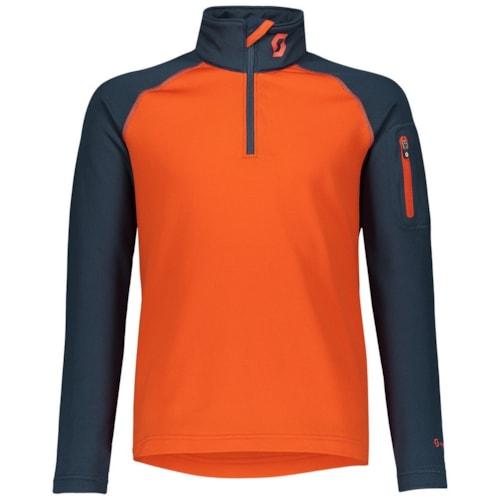 Scott 1/2 Zip JR Genser - Blå/Oransje - M