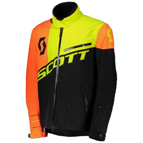 Scott Shell Pro Jakke - Sort/Neon Gul - M