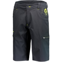 Scott Shorts Factory T. Lig Sort/Gul