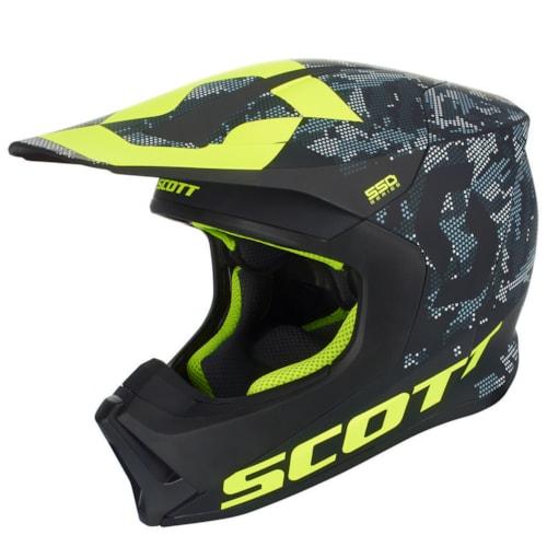 Scott 550 Camo Hjelm - Sort/Gul - 56