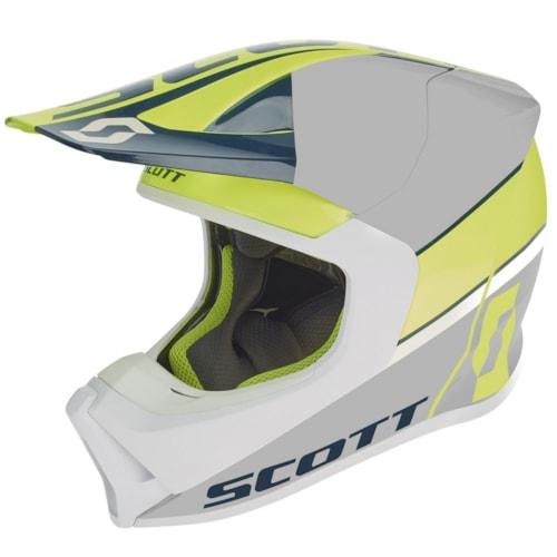 Scott 550 Split Hjelm - Gul/Blå - 56