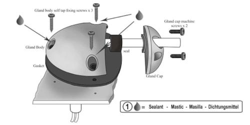 Kabelgjennomføring 2-7 mm -Side Entry