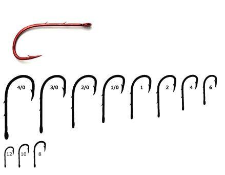 Mustad Ultrapoint Red Baitholder, Str 12