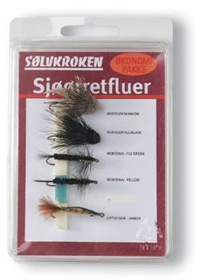 Sølvkroken Fluesett Sjøørret Elv